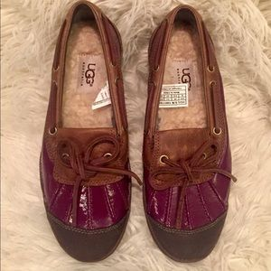 UGG Ashdale Duck Shoe in Deep Purple